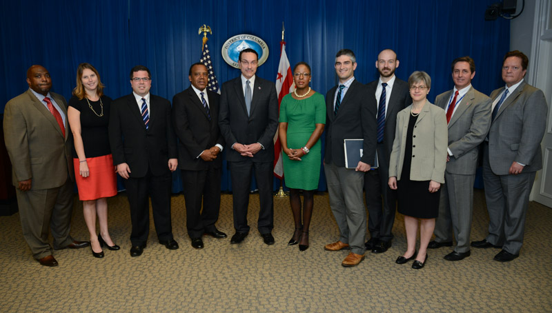 Photo of the members of the Open Government Advisory Group